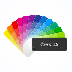 Color palette guide, fan, catalogue