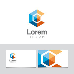 Logo design element with business card template