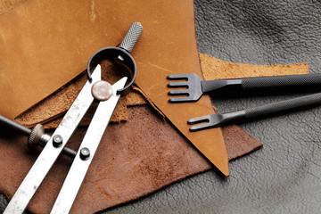 Homemade leathercraft equipment