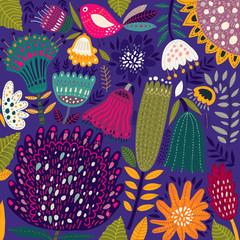 Floral spring pattern