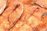 Seer Fish Fillets Fry Macro