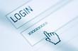 Leinwanddruck Bild - Login and password