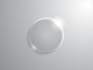 Glass circle on light background