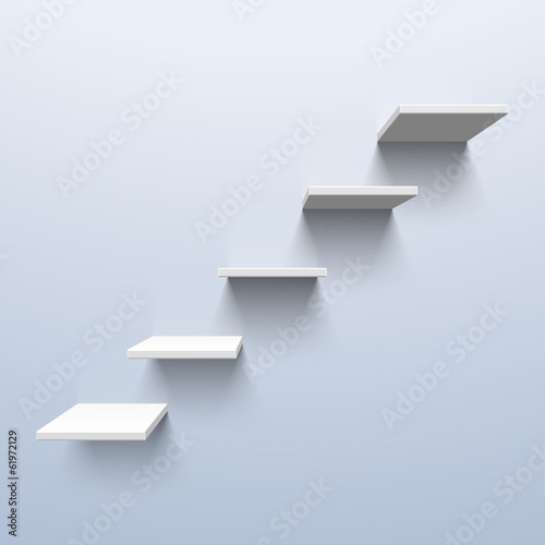 Shelves in the shape of stairs