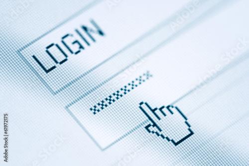 Leinwanddruck Bild Login and password