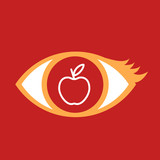Eye with apple