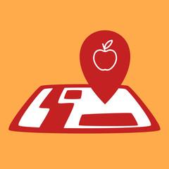 on map apple.