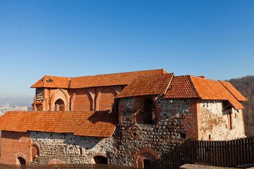 Remains of Upper Castle keep (circa 1419). Vilnius, Lithuania