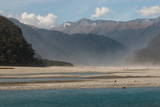 dusty storm above Haast river