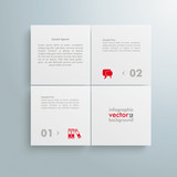 Website Template White 4 Big Squares 4 Options