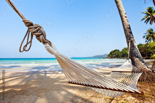 relaxation on exotic tropical beach