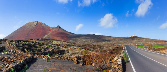driving in lanzarote with view...