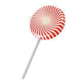 Lollipops isolated on white background