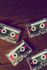 tapes on wood