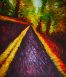 Impressionismus Kunstdruck Ölgemälde Gemälde Straße