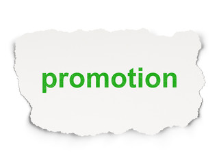Advertising concept: Promotion on Paper background