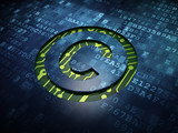 Law concept: Copyright on digital screen background