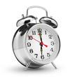 Leinwanddruck Bild - classical alarm clock isolated on white background