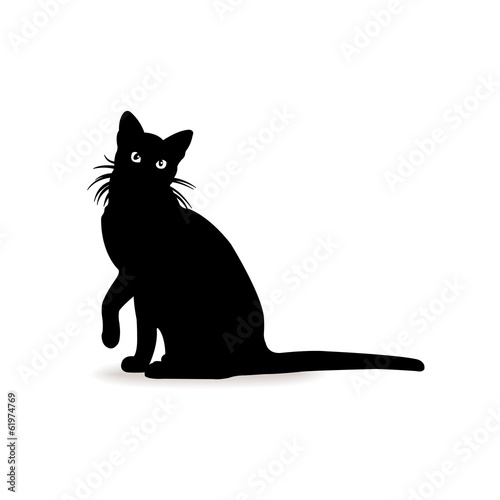 Form contour cat sign logo