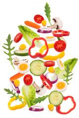 frische Zutaten für Salat