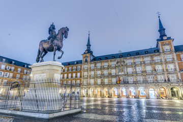 Philip III on the Plaza Mayor in Madrid, Spain.