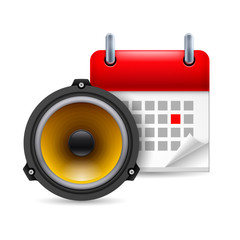Sound speaker and calendar
