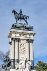 Monument to King Alfonso XII in Madrid, Spain.