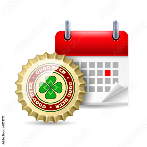 Beer cap and calendar