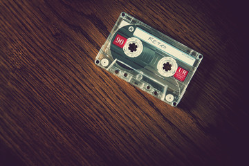retro tape on desk