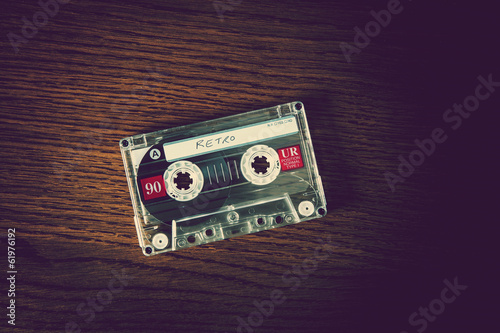 retro tape wood background