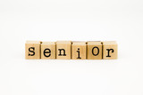 senior wording isolate on white background