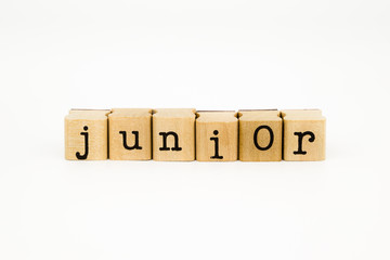junior wording isolate on white background