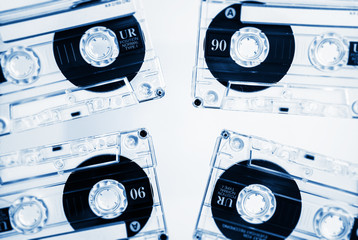 clear cassettes tapes