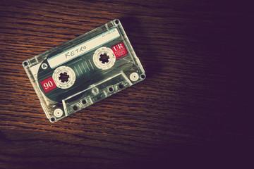 retro cassette wood