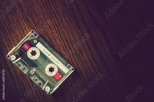 love songs tape on desk