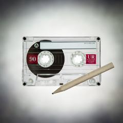 cassette tape pencil