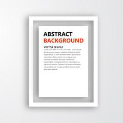 Vector 3D frame. Design for image or text. oblique line