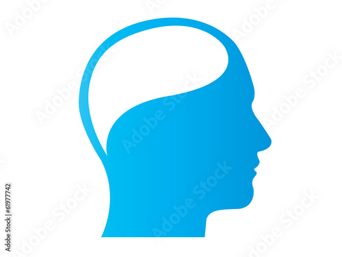 head thinking silhouette