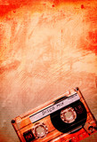grungy orange disco tape