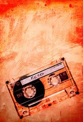 grunge orange cassette