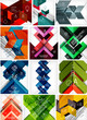 Mega set of paper geometric backgrounds