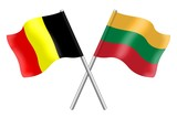 Flags: Belgium and Lithuania