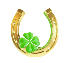 St. Patrick's day gold horseshoe