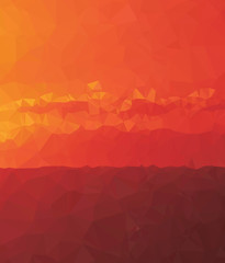 Background modern triangle geometry red sunrise birth experience