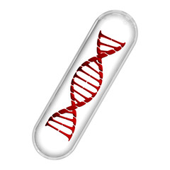 DNA Capsule - Red & White