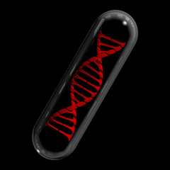 DNA Capsule - Red & Black