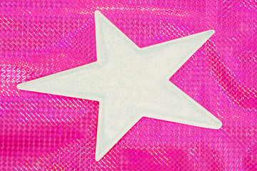 Star shape on a bright color background