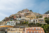 Positano on Hill with Colorful Homes