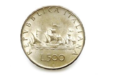 500 Lire Argento Caravelle ليرة إيطالية