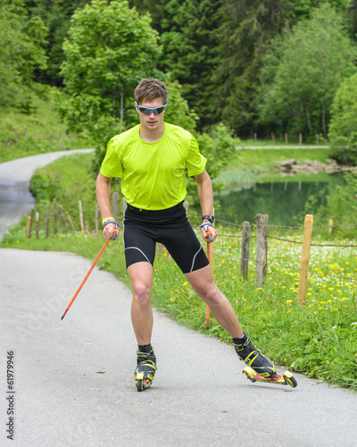 Skiroller-Training im Sommer